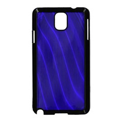 Sparkly Design Blue Wave Abstract Samsung Galaxy Note 3 Neo Hardshell Case (Black)
