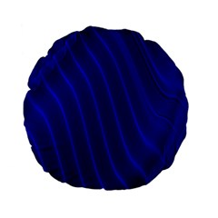 Sparkly Design Blue Wave Abstract Standard 15  Premium Flano Round Cushions