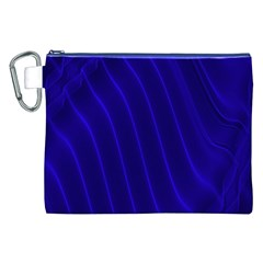Sparkly Design Blue Wave Abstract Canvas Cosmetic Bag (XXL)