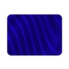 Sparkly Design Blue Wave Abstract Double Sided Flano Blanket (mini)