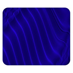 Sparkly Design Blue Wave Abstract Double Sided Flano Blanket (Small)