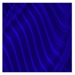 Sparkly Design Blue Wave Abstract Large Satin Scarf (Square)