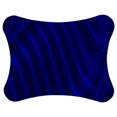 Sparkly Design Blue Wave Abstract Jigsaw Puzzle Photo Stand (Bow)