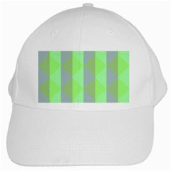 Squares Triangel Green Yellow Blue White Cap