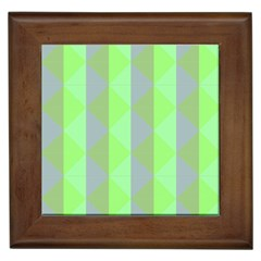 Squares Triangel Green Yellow Blue Framed Tiles