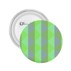 Squares Triangel Green Yellow Blue 2.25  Buttons