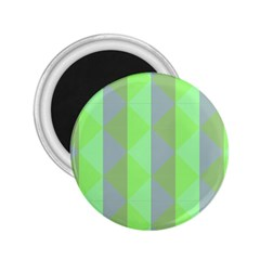 Squares Triangel Green Yellow Blue 2.25  Magnets