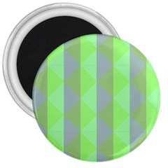 Squares Triangel Green Yellow Blue 3  Magnets
