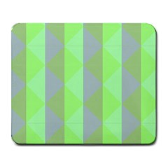 Squares Triangel Green Yellow Blue Large Mousepads
