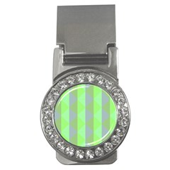 Squares Triangel Green Yellow Blue Money Clips (CZ)