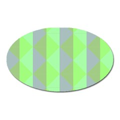 Squares Triangel Green Yellow Blue Oval Magnet
