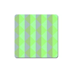 Squares Triangel Green Yellow Blue Square Magnet