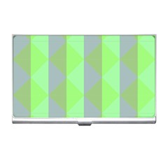 Squares Triangel Green Yellow Blue Business Card Holders