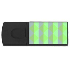 Squares Triangel Green Yellow Blue USB Flash Drive Rectangular (1 GB)