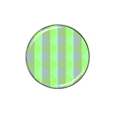 Squares Triangel Green Yellow Blue Hat Clip Ball Marker (4 pack)