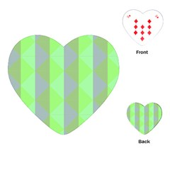 Squares Triangel Green Yellow Blue Playing Cards (Heart)
