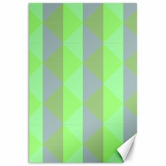 Squares Triangel Green Yellow Blue Canvas 20  x 30