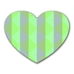 Squares Triangel Green Yellow Blue Heart Mousepads
