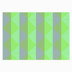 Squares Triangel Green Yellow Blue Large Glasses Cloth