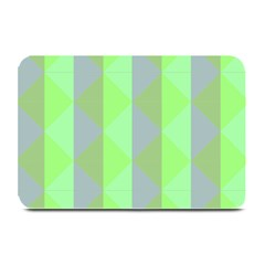 Squares Triangel Green Yellow Blue Plate Mats