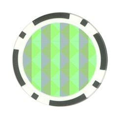 Squares Triangel Green Yellow Blue Poker Chip Card Guard