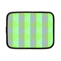 Squares Triangel Green Yellow Blue Netbook Case (Small)