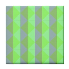 Squares Triangel Green Yellow Blue Face Towel