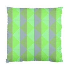 Squares Triangel Green Yellow Blue Standard Cushion Case (One Side)