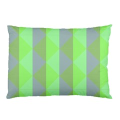 Squares Triangel Green Yellow Blue Pillow Case