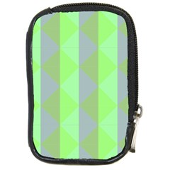 Squares Triangel Green Yellow Blue Compact Camera Cases