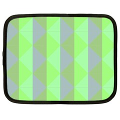 Squares Triangel Green Yellow Blue Netbook Case (XXL)