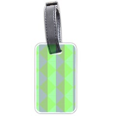 Squares Triangel Green Yellow Blue Luggage Tags (One Side)
