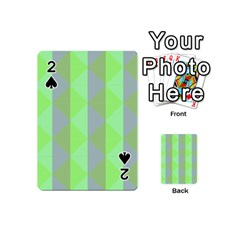 Squares Triangel Green Yellow Blue Playing Cards 54 (Mini)