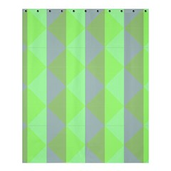 Squares Triangel Green Yellow Blue Shower Curtain 60  x 72  (Medium)