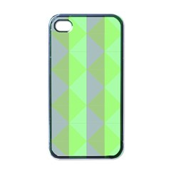 Squares Triangel Green Yellow Blue Apple iPhone 4 Case (Black)