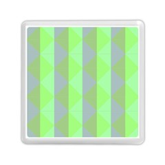 Squares Triangel Green Yellow Blue Memory Card Reader (Square)
