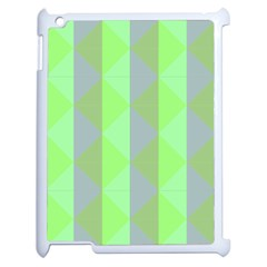 Squares Triangel Green Yellow Blue Apple iPad 2 Case (White)
