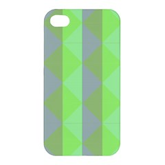 Squares Triangel Green Yellow Blue Apple iPhone 4/4S Hardshell Case