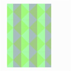 Squares Triangel Green Yellow Blue Small Garden Flag (Two Sides)