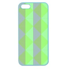 Squares Triangel Green Yellow Blue Apple Seamless iPhone 5 Case (Color)