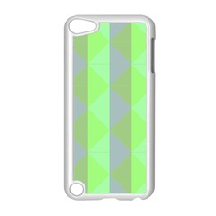 Squares Triangel Green Yellow Blue Apple iPod Touch 5 Case (White)