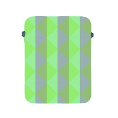 Squares Triangel Green Yellow Blue Apple iPad 2/3/4 Protective Soft Cases