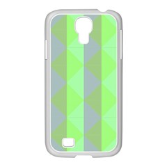 Squares Triangel Green Yellow Blue Samsung Galaxy S4 I9500/ I9505 Case (white)
