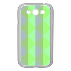 Squares Triangel Green Yellow Blue Samsung Galaxy Grand DUOS I9082 Case (White)