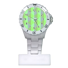 Squares Triangel Green Yellow Blue Plastic Nurses Watch