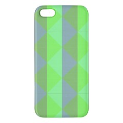 Squares Triangel Green Yellow Blue iPhone 5S/ SE Premium Hardshell Case