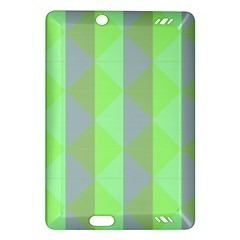 Squares Triangel Green Yellow Blue Amazon Kindle Fire HD (2013) Hardshell Case