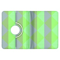 Squares Triangel Green Yellow Blue Kindle Fire HDX Flip 360 Case