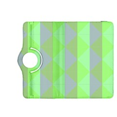 Squares Triangel Green Yellow Blue Kindle Fire HDX 8.9  Flip 360 Case