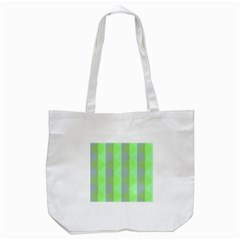 Squares Triangel Green Yellow Blue Tote Bag (White)